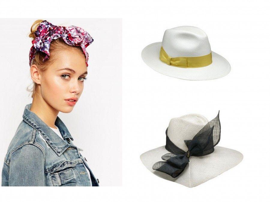 Cappelli di Paglia di Borsalino e Foulard Fiorato Asos