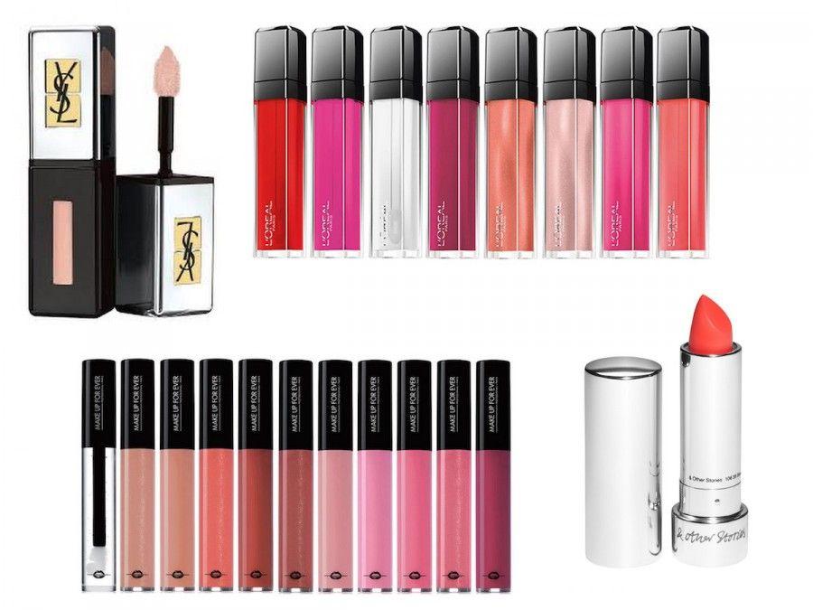 Gloss super luminosi e in diverse tonalità, rossetti volumizzanti ed idratanti