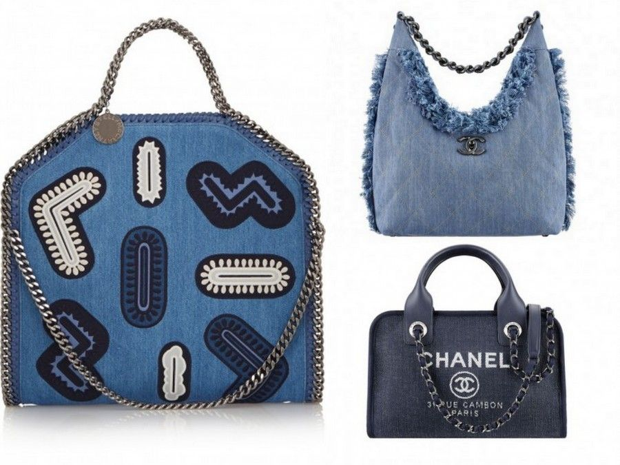 Borse in denim per Stella McCartney e Chanel