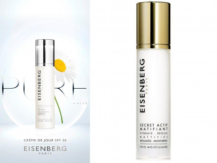 Eisenberg Crème de Jour con SPF 30 e Crema Opacizzante Secret Acitf Matifiant (anch'essa con filtri UVA e UVB)