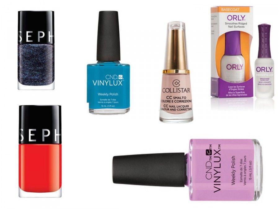 Smalti in colori vivaci e pop, qualche novità nude e una base perfetta per i glitter