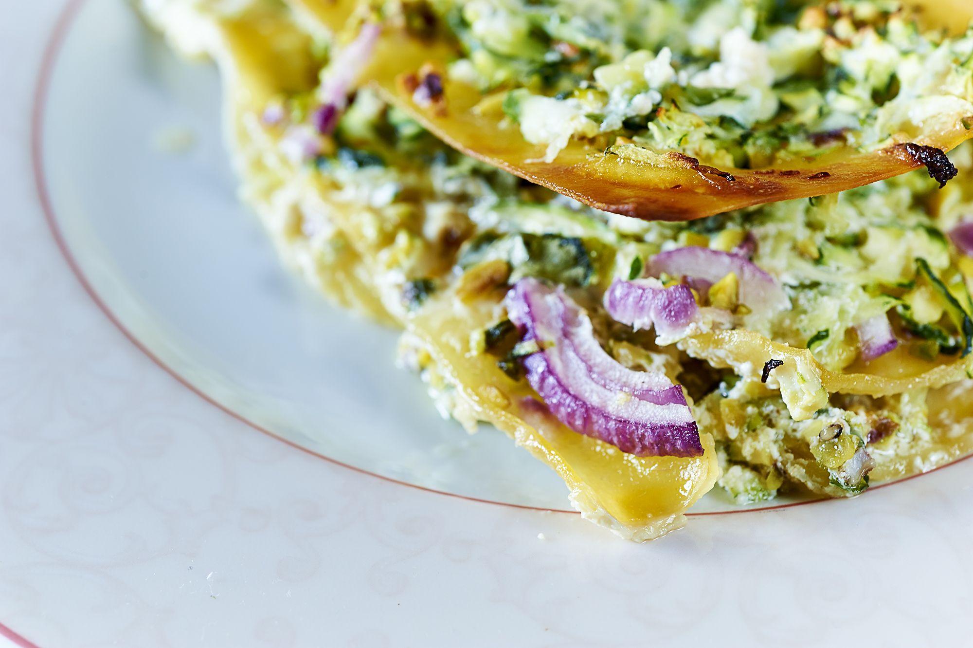 Lasagne con pesto di zucchine