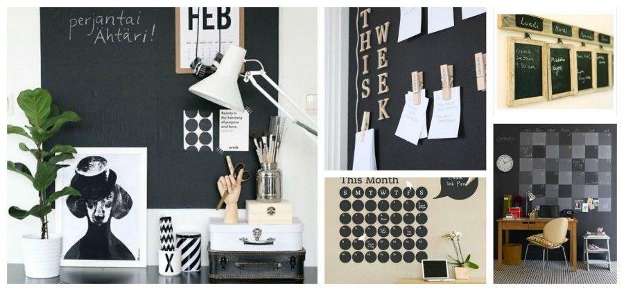 Come decorare le pareti con la vernice lavagna bigodino - Parete lavagna cucina ...