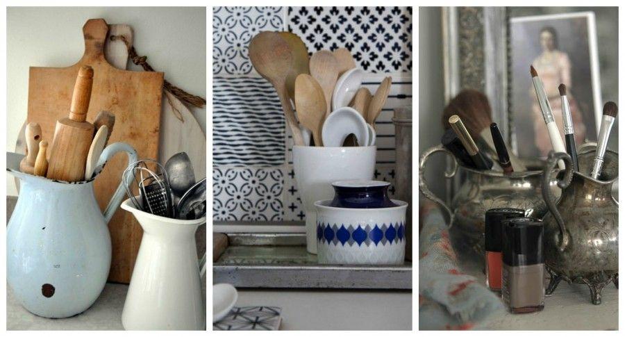 vintage 8 oggetti per ordinare casa bigodino