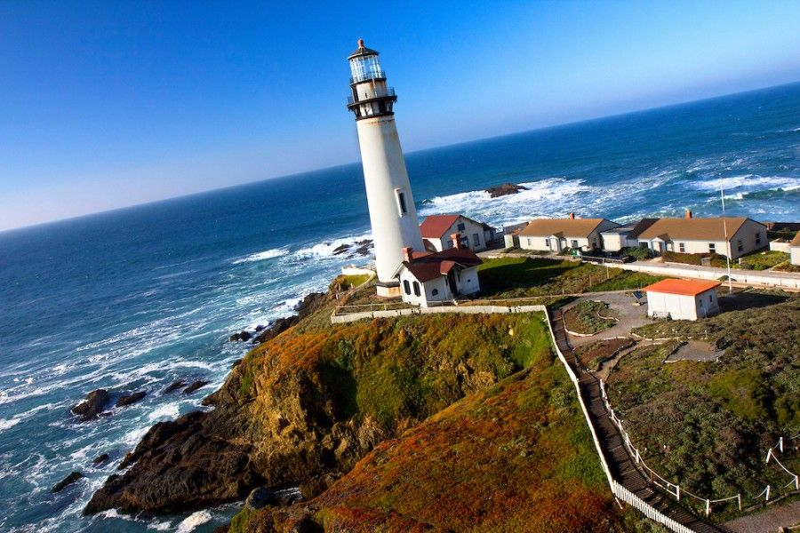 Pigeon Point Lighthouse Hostel, California Pacific Coast just south of San Francisco