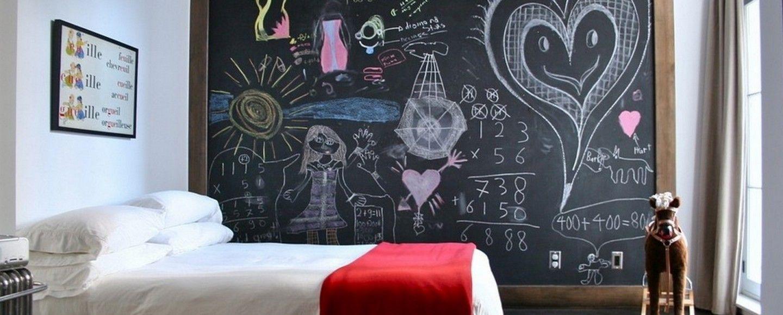 idee per arredare le pareti vernice schizzata : Come decorare le pareti con la vernice lavagna Bigodino