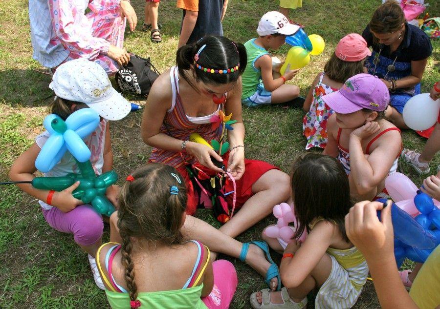animazione per bambini in campeggio