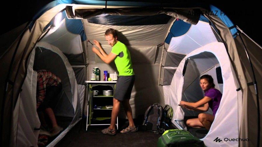 esempio di tenda comoda per famiglia con bambini in campeggio