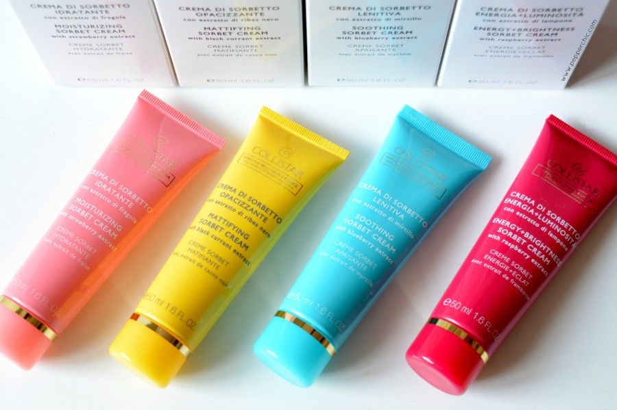 Creme Sorbetto di Collistar: colorate e perfette per ogni esigenza. Foto: pepperchic.com