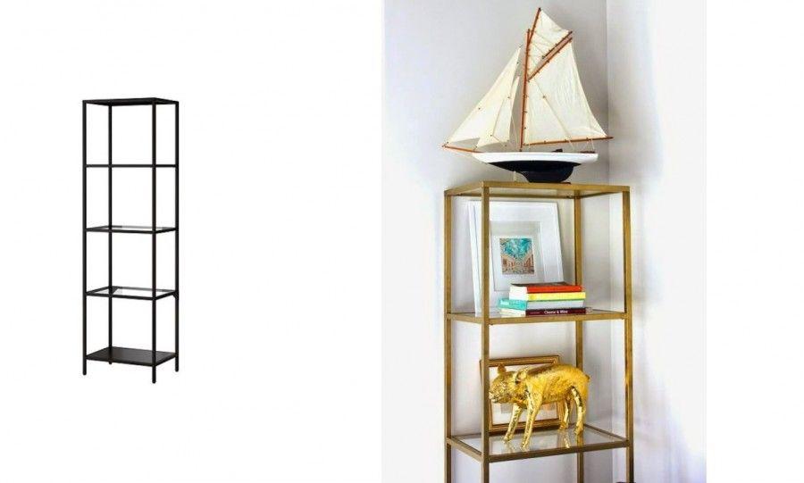 Trucchi per trasformare i mobili ikea low cost in arredi for Scaffali in ferro battuto ikea
