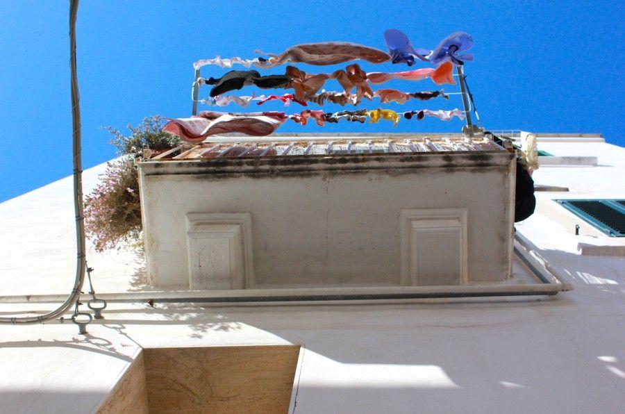 Balconi per le vie del centro storico