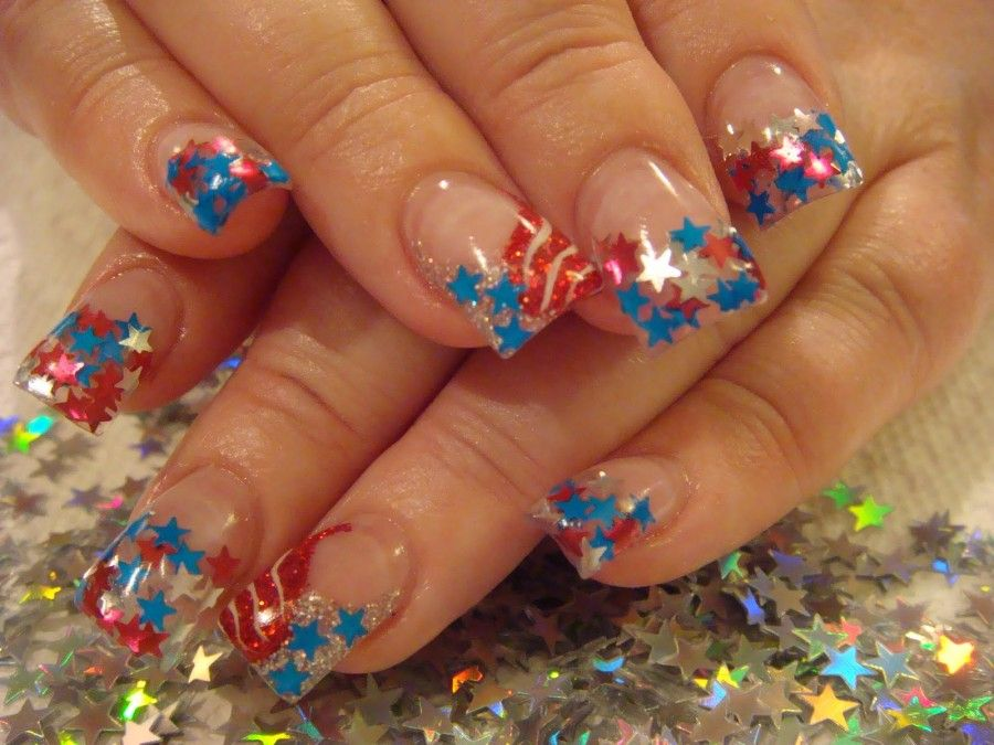 stars-and-stripes-glitter-acrylic-nails