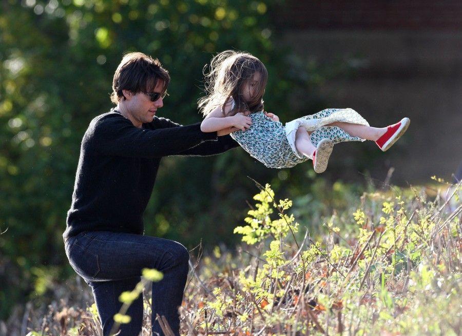 Tom Cruise e la piccola Suri