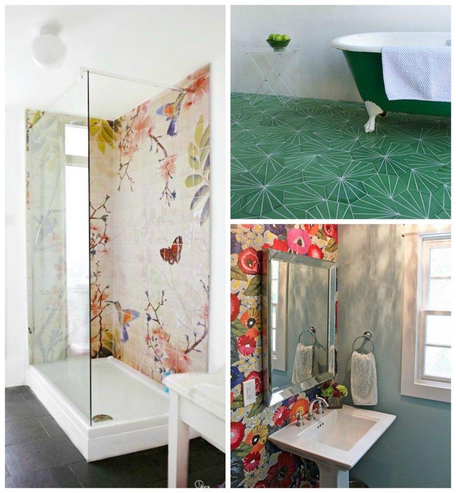 tocchi floreali in bagno