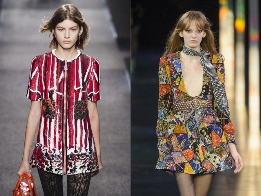 Due look per la collezione P/E 2015 di Louis Vuitton e Saint Laurent