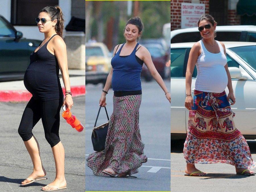 """Mila Kunis e i suoi """"pregnant look"""" un po' troppo rilassati"""