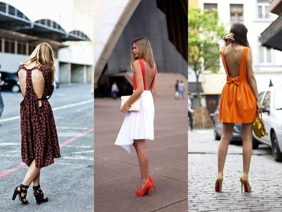 3 look dallo street style con schiena nuda
