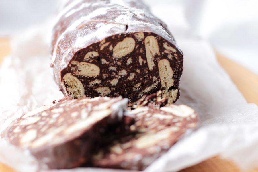 Salame al cioccolato senza burro