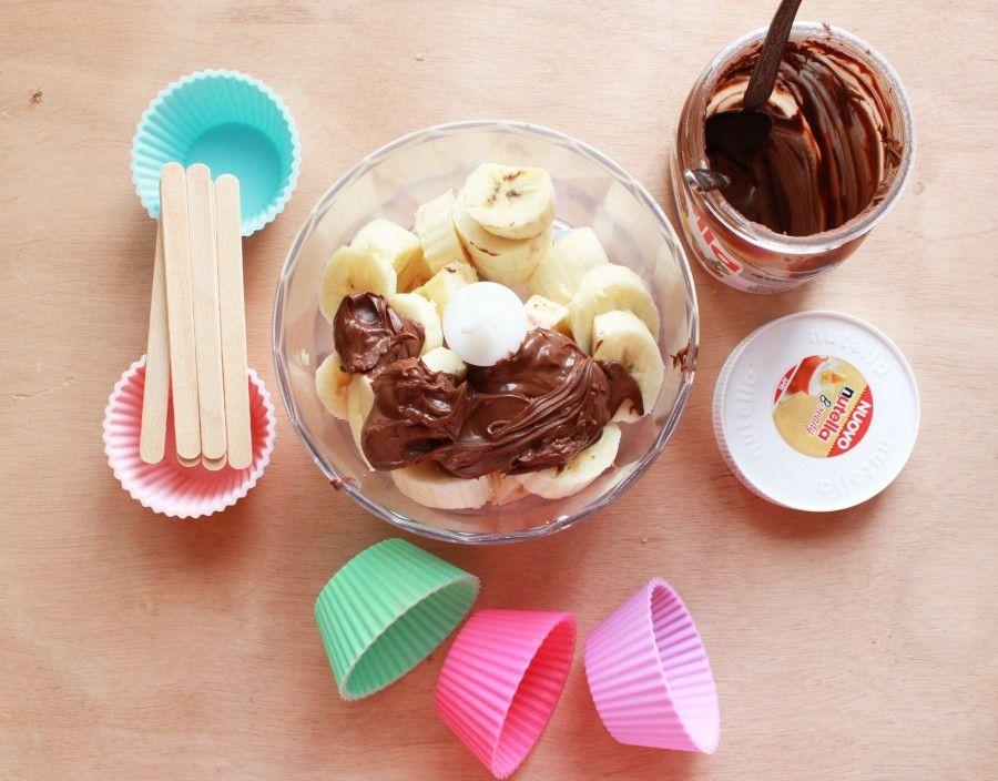 Banana e Nutella Popsicles