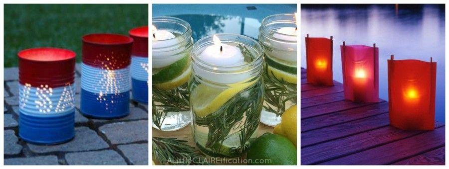 candele diy Collage