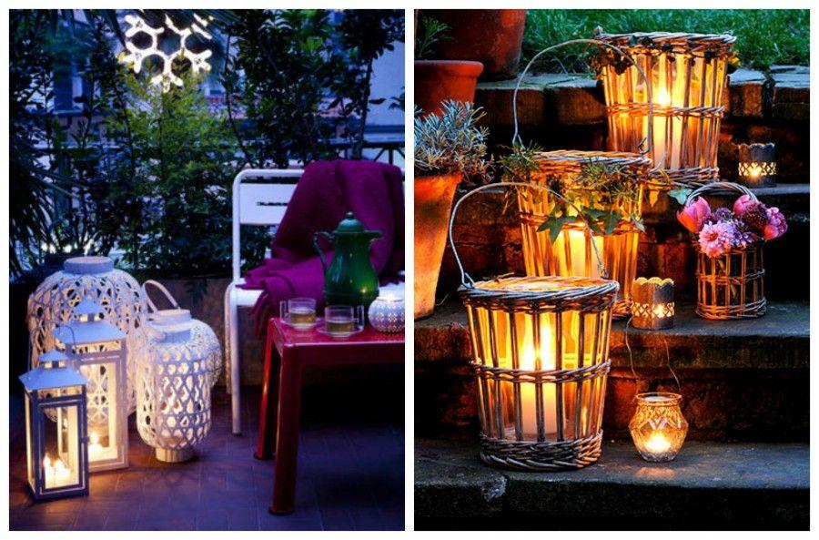 Lanterne Da Giardino Fai Da Te : Lanterne per esterni da giardino applique da esterno luce sull