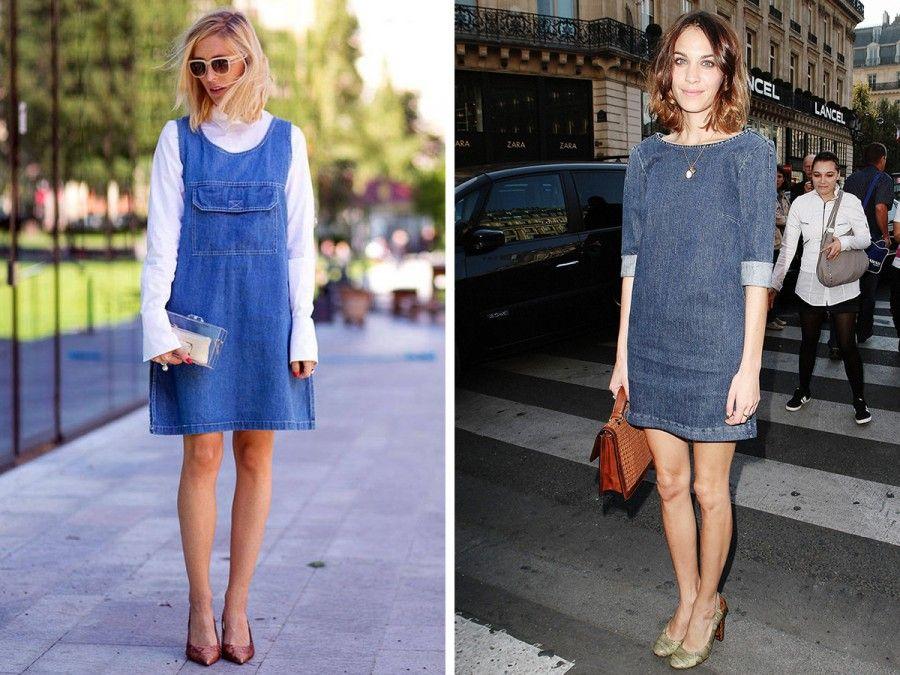 e282219387aa9 Come indossare un vestito di jeans