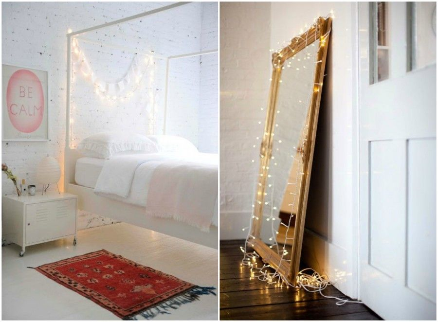luci per creare atmosfera in casa