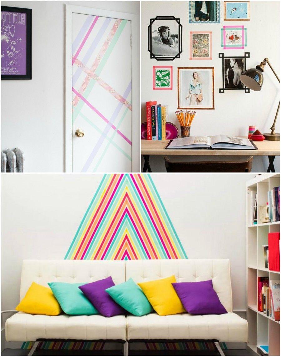 casa decorata con il washi tape