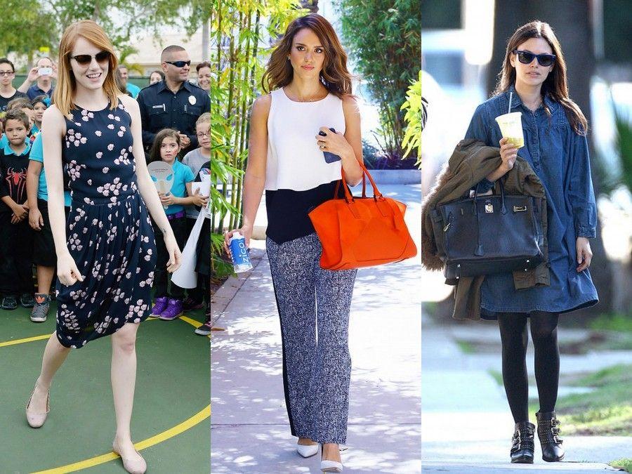 Look Casual Indossati da Emma Stone, Jessica Alba e Rachel Bilson