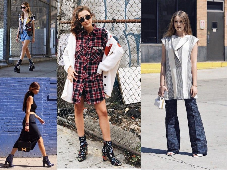 Chiara Ferragni in look rock, Eleonora Carisi in Check, Negin Mirsalehi in total black e Kristina Bazan