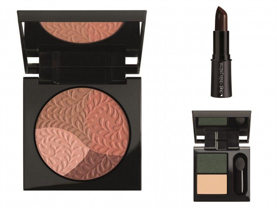 Blush, rossetto e eyeshadow duo dalla collezione Nudo con Castagna di Diego dalla Palma