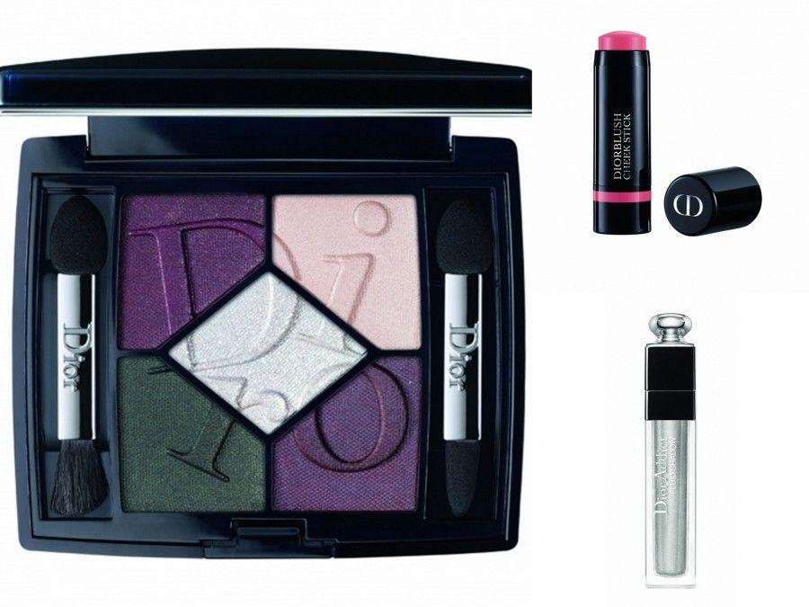 Palette ombretti Eclectic, Diorblush Cheek Stick Blush e Dior Addict Fluid Shadow numero 025 Magnetic