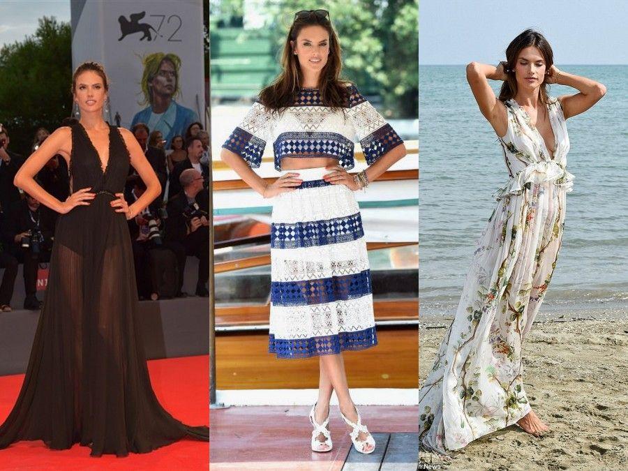Alessandra Ambrosio in 3 splendidi look Philosophy