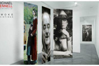 Michael Fennell: l'artista che dipinge con il fumo