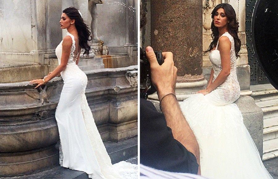 Pics Photos - Belen Rodriguez In Abito Da Sposa Sui Social Network ...