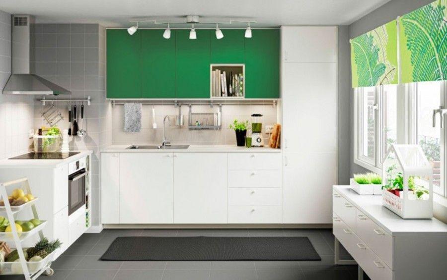 cucina-con-elementi-verdi