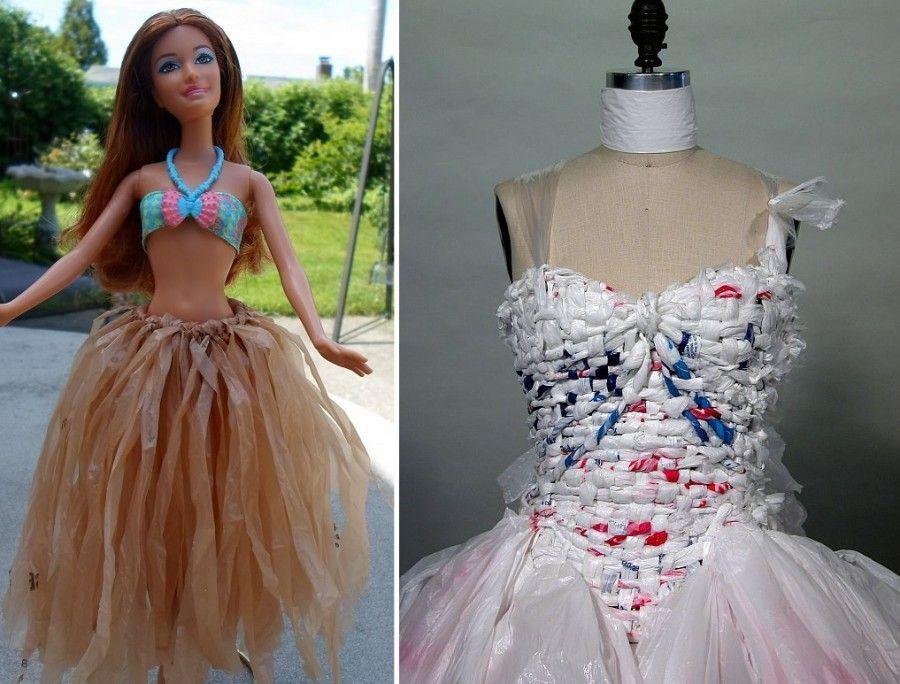 riciclare-borse-plastica-vestiti
