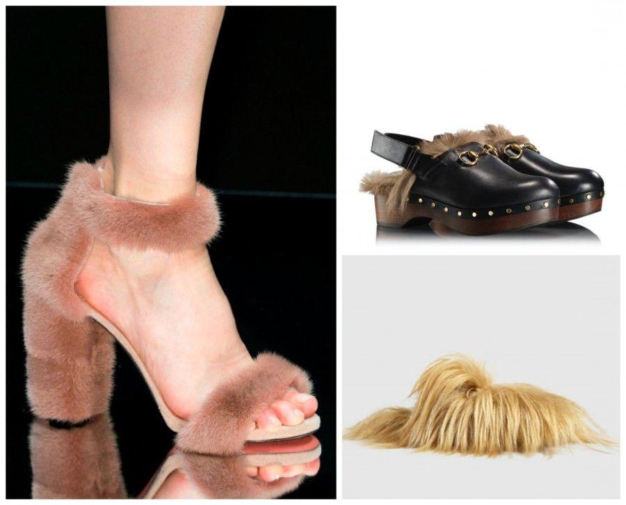 scarpe pellicciaCollage