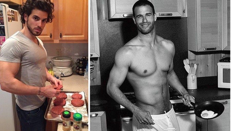 uomini-in-cucina-muscoli