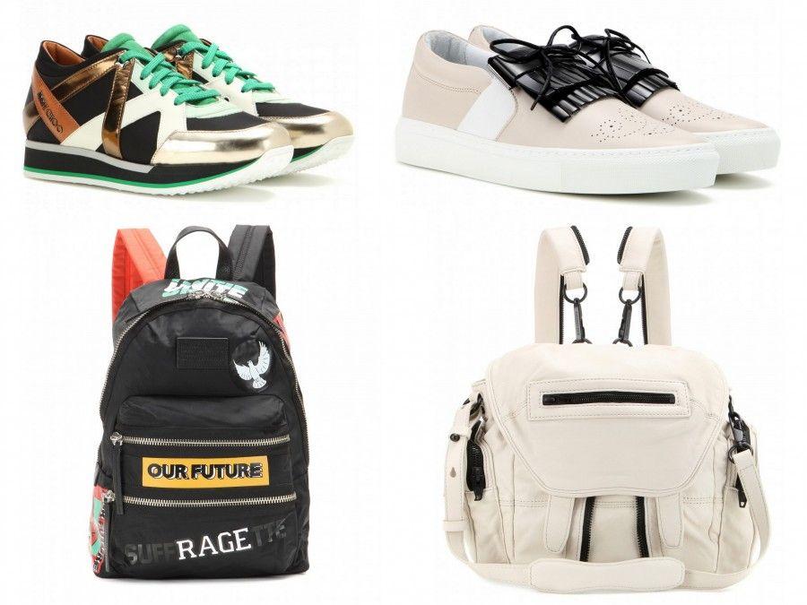 Sneakers di Jimmy Choo e Lavin, Zainetto di Marc by Marc Jacbos e Alexander Wang