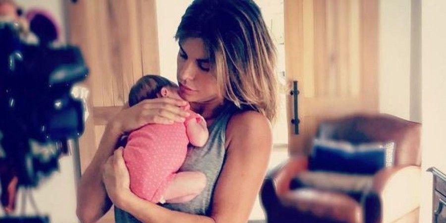 Elisabetta Canalis e la figlia Skyler Eva