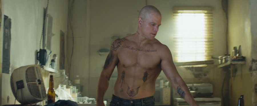 Matt Damon in una scena di Elysium
