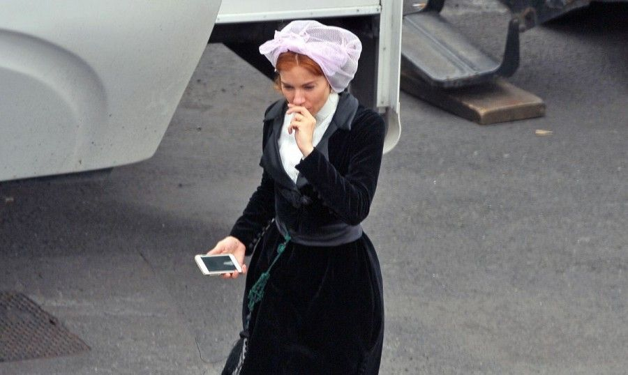 Sienna Miller sul set di The lost city of Z