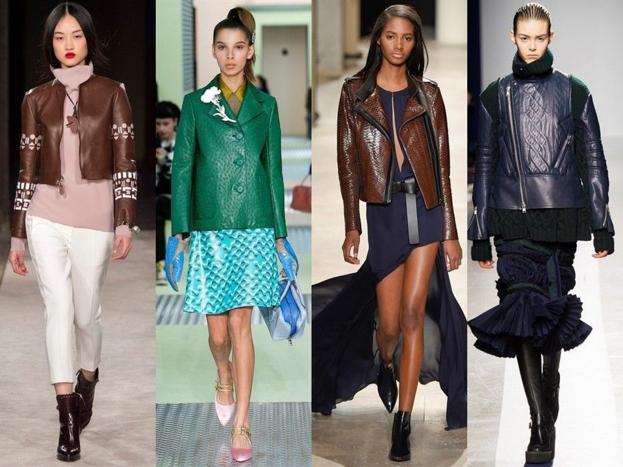 Look da passerella con giacche coloratissime di Tod's, Prada, Barbara Bui e Sacai