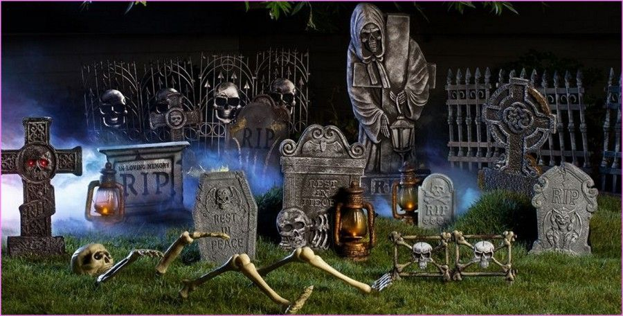 decorazioni-halloween-giardino-cimitero