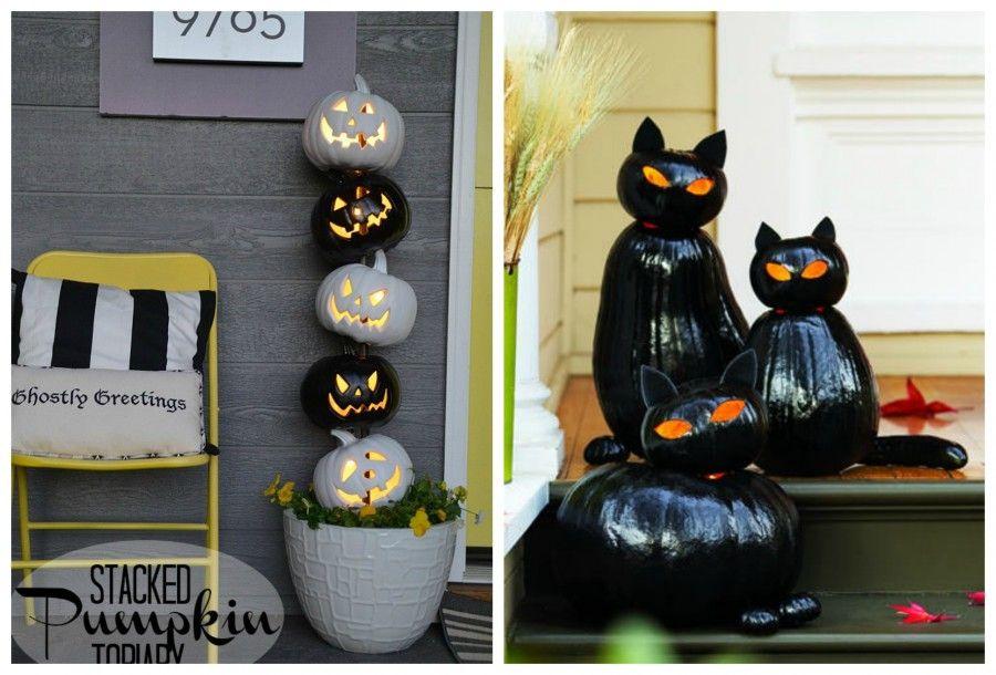 Zucche Ornamentali Per Halloween: Addobbi halloween decorazioni fai da te per...