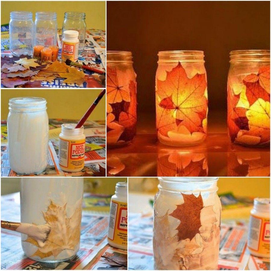 lanterne con foglie