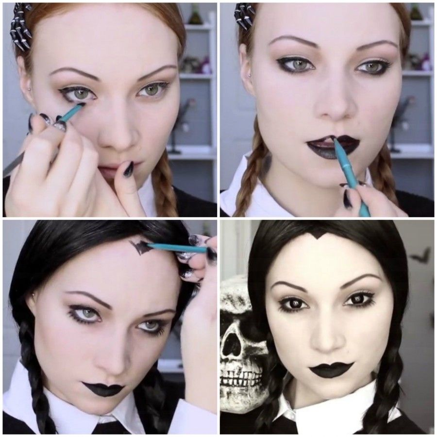 Make up di Mercoledì Addams