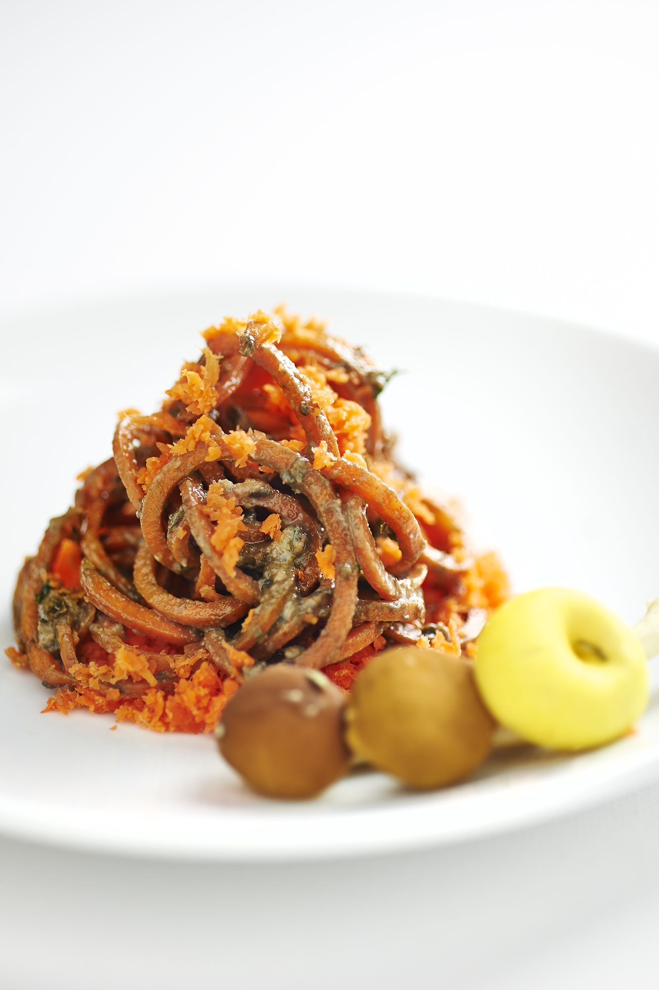 spaghetti di carote ai funghi 1 copia