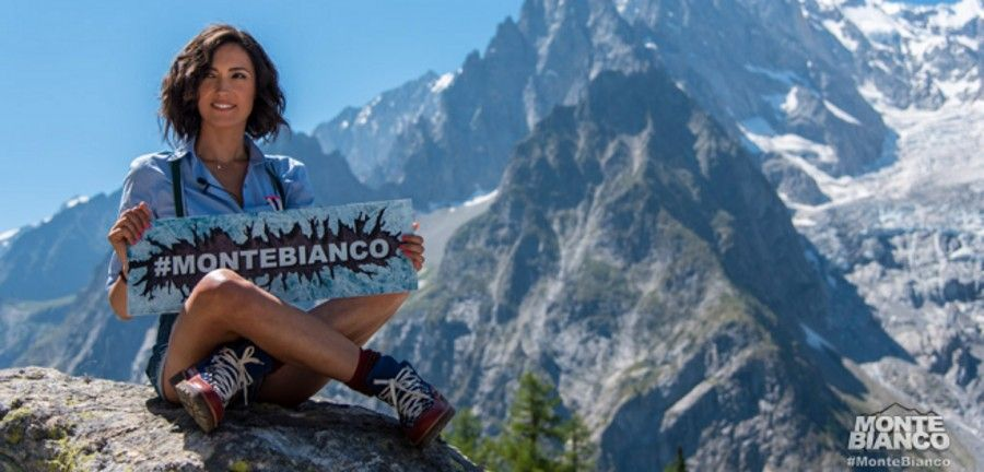 Caterina Balivo in Monte Bianco